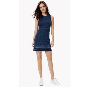 Theory Raneid D Released Hem Blue Denim Dress 00